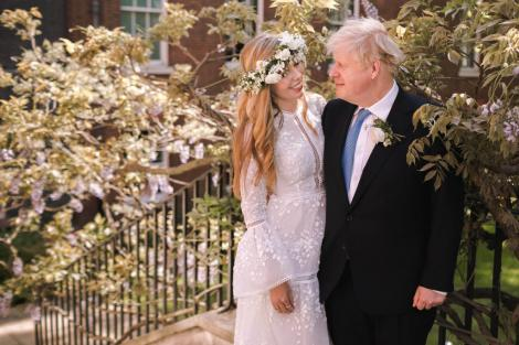 Carrie Symonds și Boris Johnson la nuntă