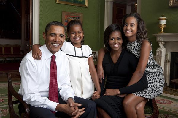Famia Obama, portret de familie