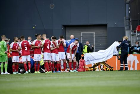 Christian Eriksen s-a prăbușit inconștient pe teren, la Euro 2020. Colegii și fanii au izbucnit în lacrimi