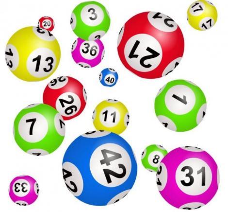 Numere de loto, pe bile colorate