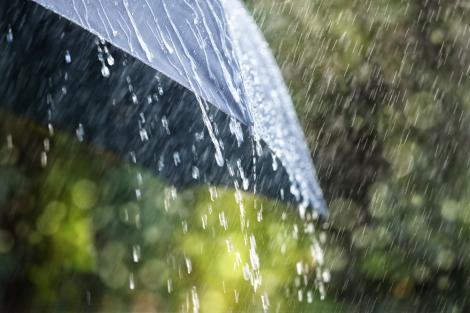 Umbrelă în ploaie torențială