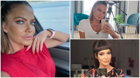 Colaj cu Andreea Antonesc, făcându-și selfie-uri