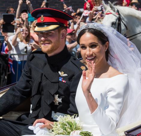meghan markle si printul harry la nunta lor