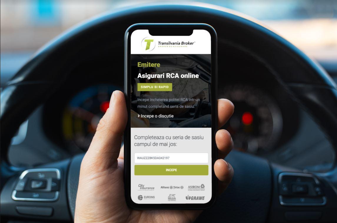 (P) O noua inovatie in emiterea unei asigurari RCA online creata de Transilvania Broker