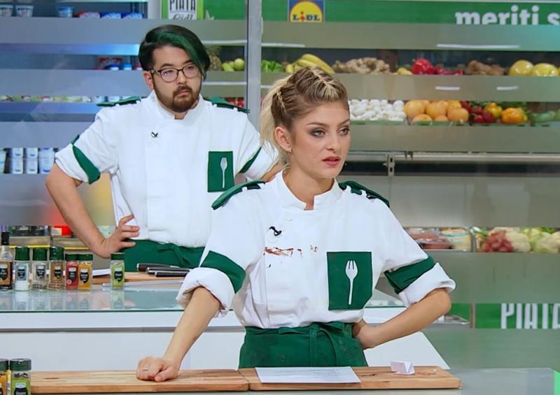 Elena Matei în bucătăria Chefi la cuțite 2021