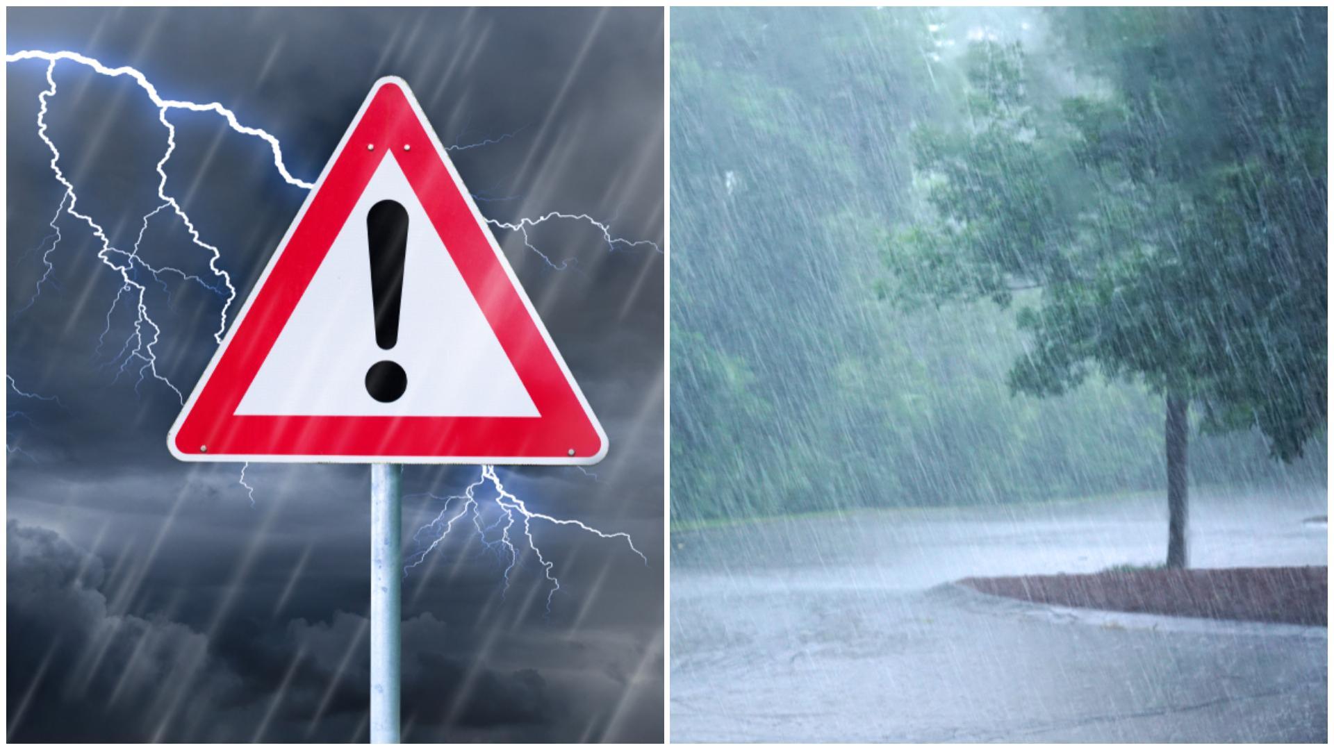 Alertă meteo! Vremea rea va afecta noi regiuni. Ce zone sunt vizate de cel mai recent cod galben de ploi emis de meteorologi