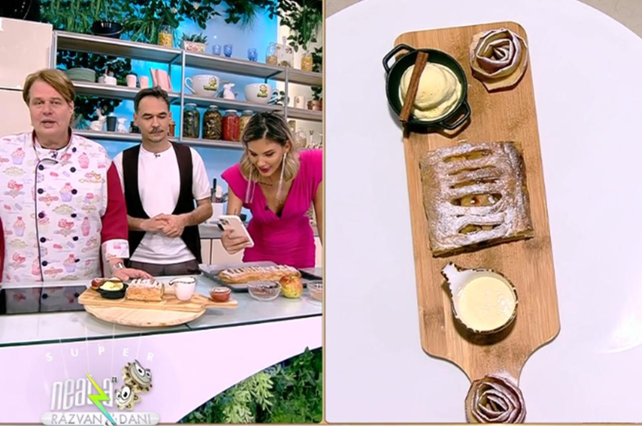 Rețeta celui mai delicios ștrudel cu mere, preparată de Vlăduț de la Neatza cu Răzvan și Dani