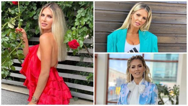 Andreea Bănică în trei ipostaze diferite
