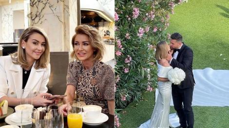 Cum a arătat Raluca de la Bambi la nunta surorii sale, Denisa Tănase. A fost domnișoara de onoare