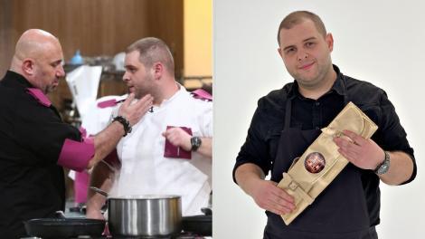 colaj de imagini cu alexandru baditoaia si chef catalin scarlatescu