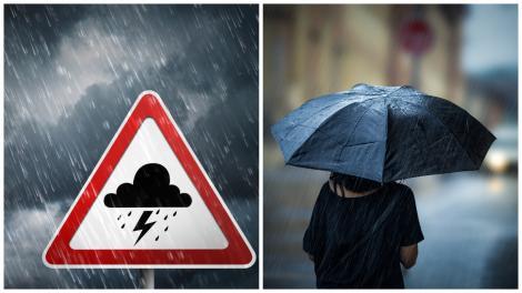Ploi și vânt în aproape toată țara. Meteorologii au emis noi atenționări. Care sunt cele mai afectate zone de vreme rea