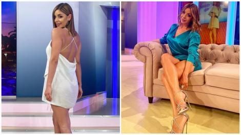 Natalia Mateuț în două ipostaze diferite