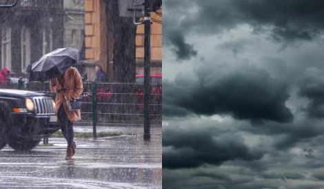Cod galben de furtuni. Grindină, fenomene meteo extreme și vijelii în jumătate de țară. Cod roșu de caniculă în vestul țării