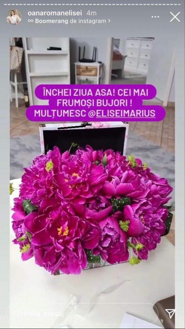 Buched de flori de culoare mov