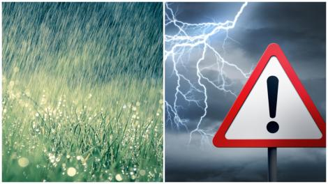 Alertă meteo de cod portocaliu! Ce zone sunt vizate de vijelii puternice, grindină și ploi abundente