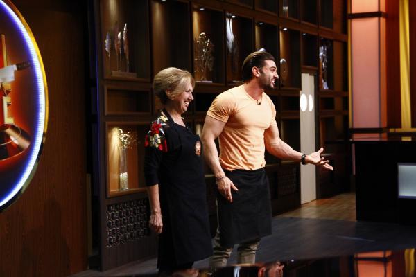 Dorian Popa și mama lui la Chefi la cuțite
