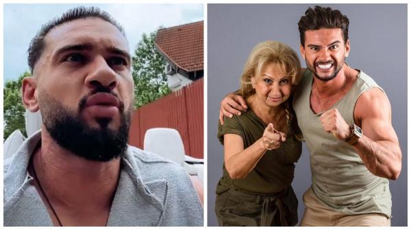 Colaj cu Dorian Popa, supărat, în timp c eîși ducea mama la sputal și zâmbitor, alături de mamișor, în Asia Express