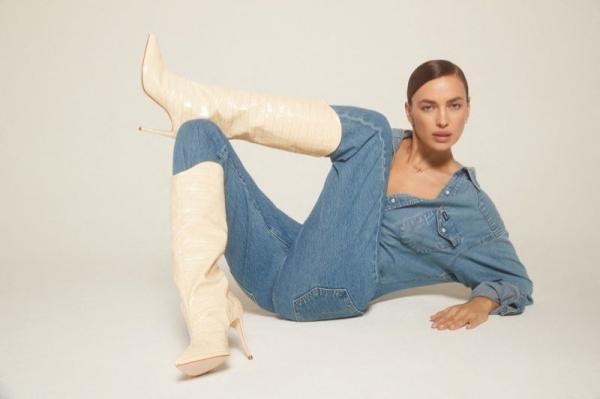 Irina Shayk, noii blugi-tanga
