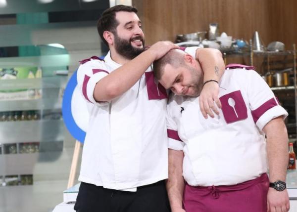 Vicenzzo Aiello alături Alexandru Bădițoaia, după eliminarea italianului de la Chefi la cuțite
