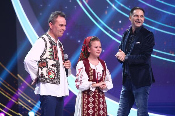 Lorena Târla, alături de tatăl ei și de Dan Negru
