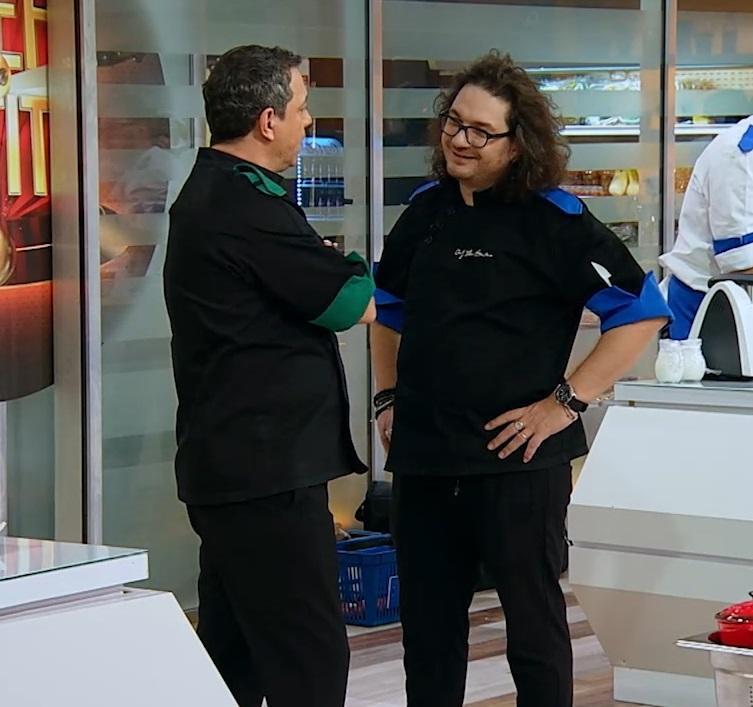 """Sorin Bontea și Florin Dumitrescu la """"Chefi la cuțite"""""""