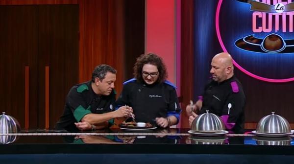 """cei trei chefi în platoul emisiunii """"Chefi la cuțite"""" sezonul 9"""