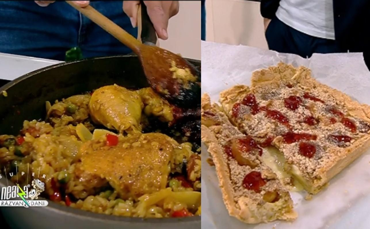 Rețetă de paella de pui cu legume și rețetă de tartă cu caise, gătite de Nicolai Tand la Neatza cu Răzvan și Dani