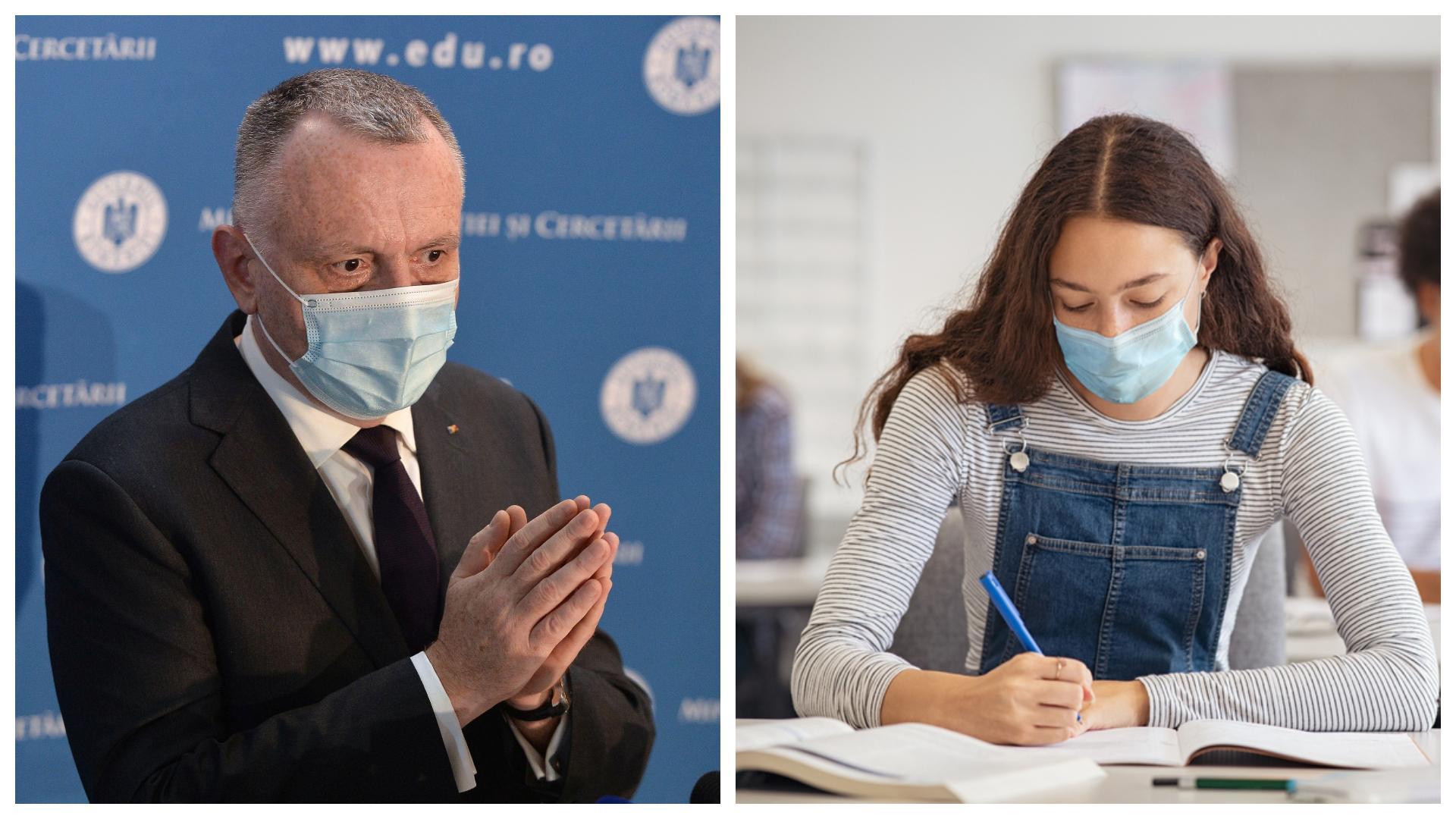 Noi reguli la Evaluarea Națională 2021. Sorin Cîmpeanu a explicat ce măsuri trebuie să respecte absolvenții de gimnaziu