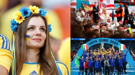 """""""Duelul"""" suporterelor. Cele mai frumoase fane de la Euro 2020. Ce țară iese învingătoare?"""