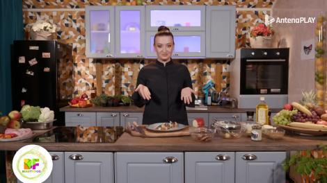 Roxana Blenche, plating de senzație pentru un muschiuleț de porc cu garnitură de legume, la BeautiFood, pe AntenaPlay