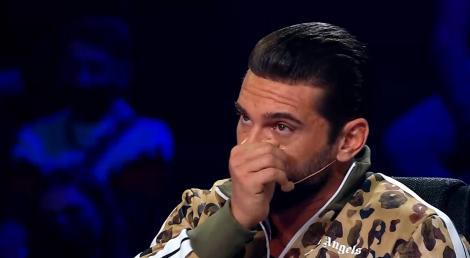 dorian popa, stergandu-si lacrimile la next star