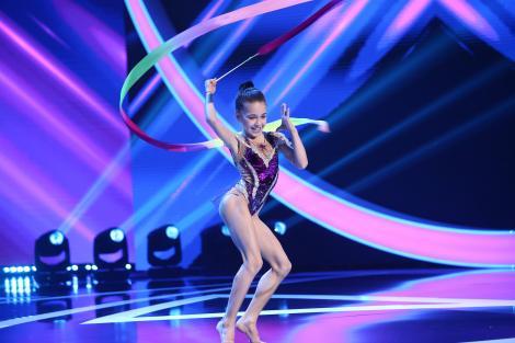 "Next Star, 3 iulie 2021. Alexia Ghica, moment impresionant de gimnastică ritmică. Dorian Popa: ""Extraordinar!"""