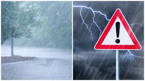 Meteorologii anunță ploi torențiale în mare parte din țară. Ce zone sunt vizate de cod portocaliu de vreme rea