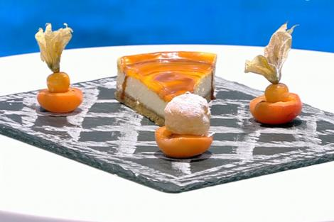 Cheesecake cu piure de mango și sos caramel sărat, rețeta lui Vlăduț de la Neatza cu Răzvan și Dani
