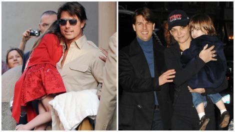 Suri Cruise, fiica lui Katie Holmes și Tom Cruise, se transformă într-o adevărată domnișoară. Cum a fost surprinsă de paparazzi