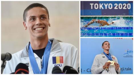 Jocurile Olimpice 2020. David Popovici s-a calificat în semifinalele probei de 100 metri liber la JO de la Tokyo