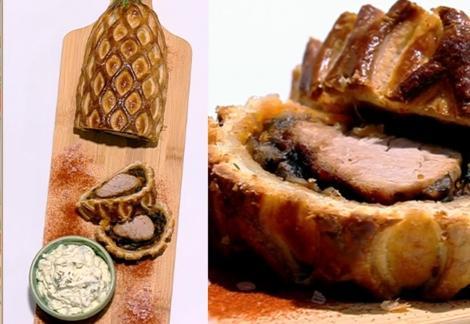 Rețeta de mușchiuleț de porc în stil Wellington cu sos de maioneză și cremă de brânză, preparată de Vlăduț la Super Neatza