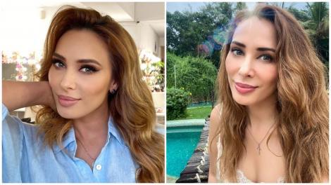 Iulia Vântur în două ipostaze diferite