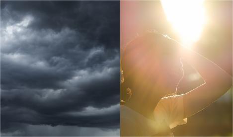 Alertă ANM! Două avertizări de Cod Galben. Urmează zile cu ploi abundente și descărcări electrice, urmate de zile caniculare