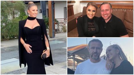 Anamaria Prodan în trei ipostaze diferite, alături de Laurențiu Reghecampf