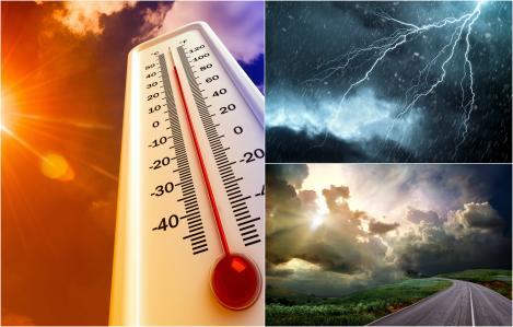 Alertă ANM! Cod Galben de caniculă și de furtuni. Capitala și alte 17 județe, sub temperaturi ridicate și fenomene meteo extreme