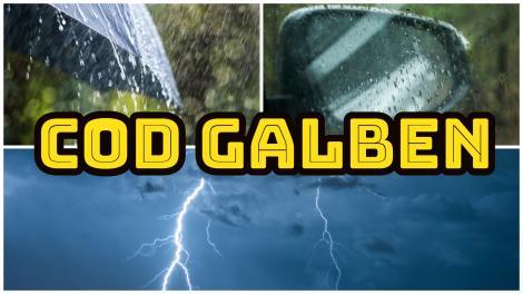 Alertă meteo! Cod galben de ploi torențiale și descărcări electrice. Ce zone sunt vizate de avertizarea meteorologilor