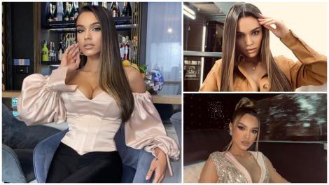 Karmen Simionescu, fiica lui Adrian Minune, a fost nașă de botez. Cum arată rochia imperială în care a strălucit