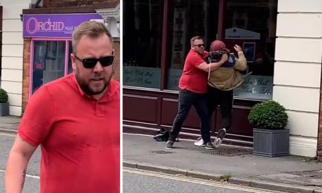 O femeie a filmat momentul în care soțul său coboară din mașină ca să fugărească un tânăr. Gestul său l-a transformat într-un erou