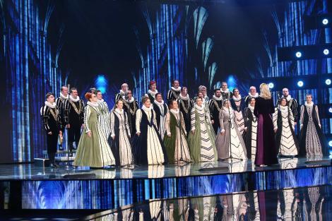 "X Factor 2021, 13 septembrie. Corul Madrigal a interpretat capodopera ""Thank you for the music"", care aparține celebrei trupe Abba"