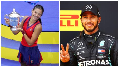 Ce mesaj a transmis Lewis Hamilton pentru Emma Răducanu după finala de la US Open. Imaginea pe care a publicat-o pe Internet