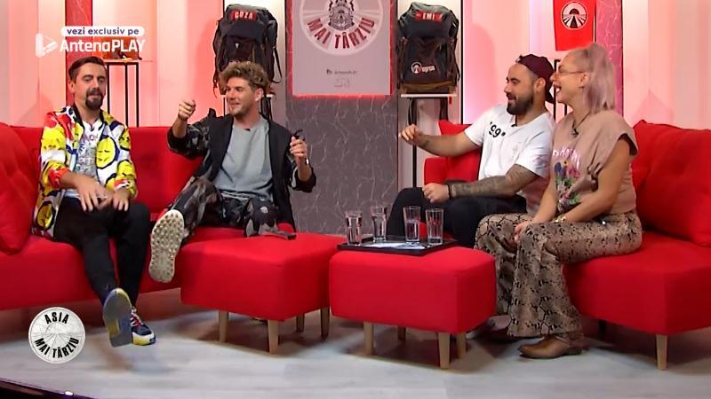"""Emi și Cuza alături de Eliza și Cosmin Natanticu, în episodul 1 din """"Asia mai târziu"""""""