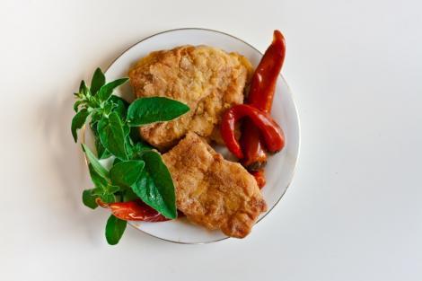 File de somon în crustă de muștar