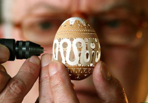 Adevarate opere de arta, dintr-o coaja de ou!