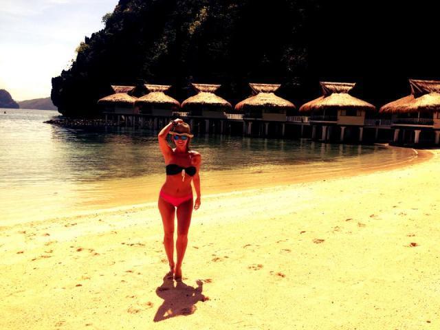 Delia a petrecut zile de vis in Paradisul numit Filipine